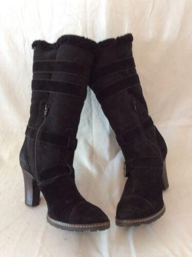 pierna de media Botas talla negra gamuza 7 Clarks a xRxBYqvw