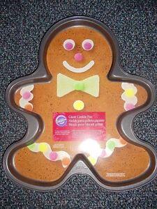 Wilton Gingerbread Giant Cookie Pan New Christmas Cookies Cakes Ebay