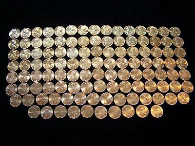 1975-2013 Uncirculated Lincoln Cent Collection 89 Coin Set in a Whitman Folder