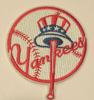 Ny Yankees 3 1/4 Round Embroidered Sewn/iron On Patch