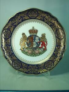 Spode QUEEN ELIZABETH QUEEN MOTHER 100th Birthday Plate Royal Coat of Arms