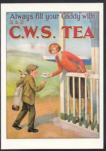 Advertising-Postcard-C-W-S-Tea-Golf-Series-Robert-Opie-Collection-A7968