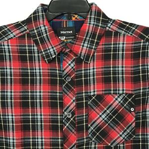 Marmot-Anderson-Light-Weight-Flannel-Long-Sleeve-Shirt-Men-039-s-SZ-MEDIUM-75-NEW