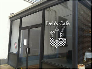Image is loading Cafe-Diner-Restaurant-Business-Sign-Vinyl-Decal-Sticker- & Cafe Diner Restaurant Business Sign Vinyl Decal Sticker Sign Window ...