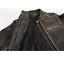 miniature 4 - Black Brand Women's Vintage Rebel Brown Leather Motorcycle Jacket