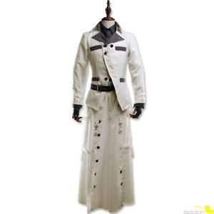 Final Fantasy VII Remake Rufus Shinra Cosplay Costume White Outfit Full Set