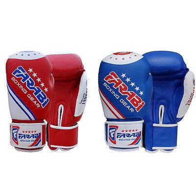Farabi Genuine Leather Target Series Training MMA Punching Boxing Gloves
