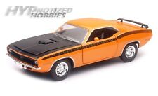 NEWRAY 1:24 CITY CRUIZER 1970 PLYMOUTH CUDA DIE-CAST ORANGE SS-71875OR