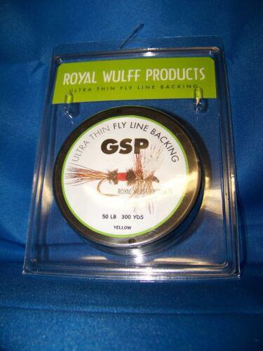 Royal Wulff GSP Ultra Thin Backing 50Lb 600YDS 300YDS 1200YDS Yellow