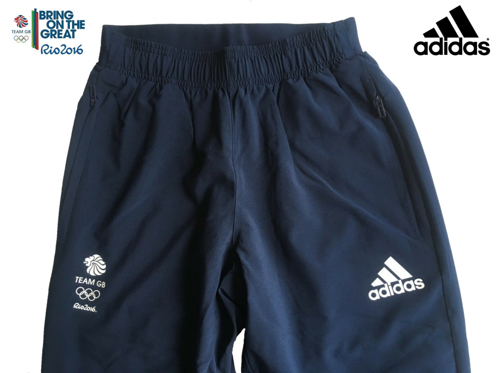 ADIDAS TEAM GB RIO 2016 ELITE ATHLETE OLYMPIC PRESENTATION PANTS Size 42 L