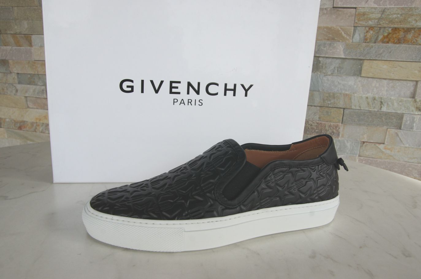 Orig Mokassins GIVENCHY PARIS Gr 36,5 Slipper Mokassins Orig Slip-On Schuhe schwarz NEU ca0586