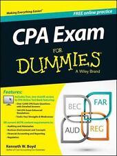 CPA Exam for Dummies by Consumer Dummies Staff and Kenneth W. Boyd (2014,...