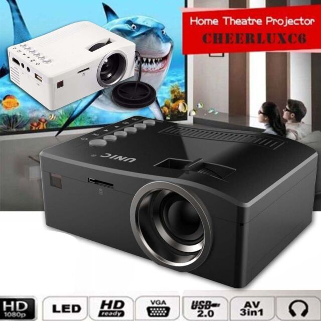 Full HD 1080P Home Theater L#8 Mini Multimedia Projector Cinema USB TV HDMI #8