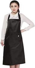 Waist Apron With 3 Pockets Black Waitress Waiter Short Aprons Water Resistant