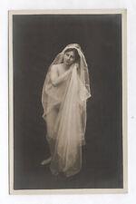 PHOTO CARTE ANCIENNE Nu au voile Érotique Érotisme Sculpture Femme 1920