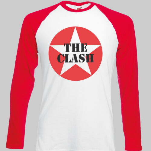 Lo scontro Punk Rock T-shirt Ramones DANNATI Baseball Manica Lunga Unisex S-3XL