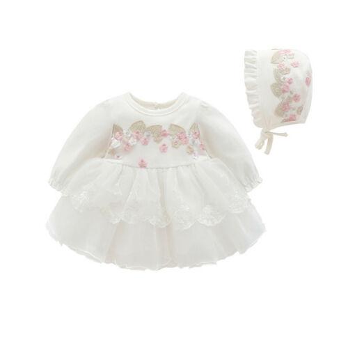 Newborn Infant Baby Kids Girl Party Lace Tutu Princess Dress Clothes Outfits Set