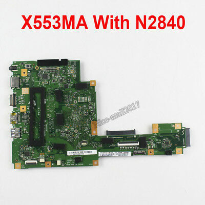 For ASUS X553MA X503M A553M A553MA Motherboard REV2.0 Mainboard With N2840U CPU