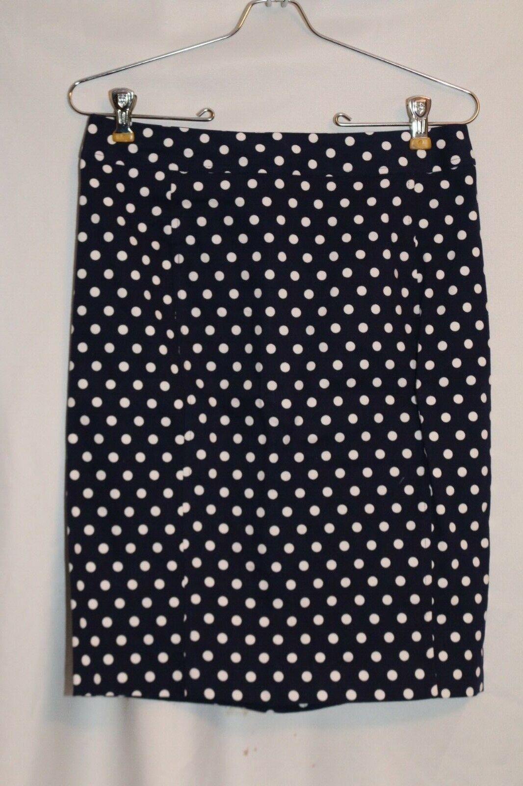 NEW    Pixley for Stitch Fix  June Polka Dot Skirt  Navy White; Small