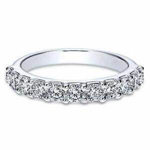 2ct Round Moissanite Wedding Band Half Eternity Anniversary Ring 14k