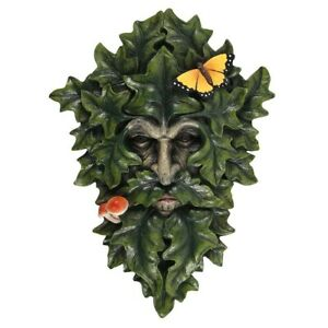 Leafy-Green-Man-Wall-Plaque-29-x-21cm-Brand-New-amp-Boxed