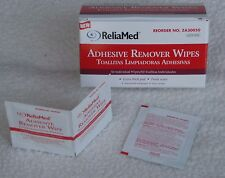 ReliaMed #ZA30050 Adhesive Remover Wipes Extra Thick - Box of 50 - New!