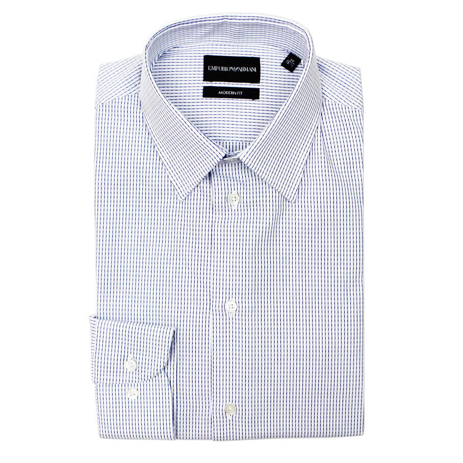 Emporio Armani - Fine Stripe Modern Fit Shirt - 16.5 42 - NEW W TAGS RRP