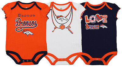 Sports Mem, Cards & Fan Shop Clothing, Shoes & Accessories Professional Sale Outerstuff Nfl Infant Girls Denver Broncos Assorted 3 Pack Creeper Set Discounts Price