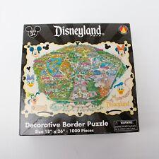 Disney Parks Exclusive Disneyland Map Decorative Border Puzzle 1000 Piece New!