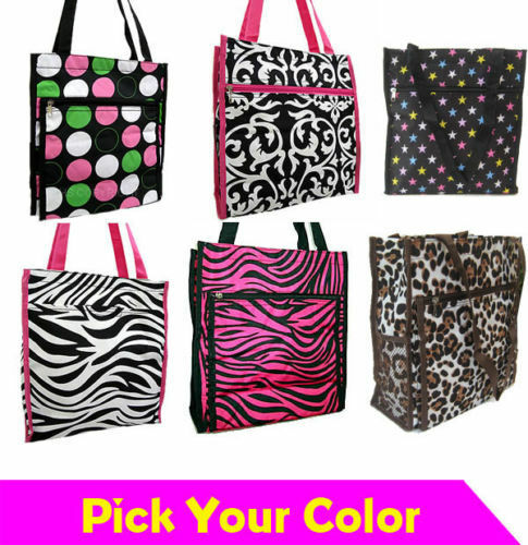 Trendy Fashion Novelty School Print Light Weight Travel Shopping Women Tote Bags