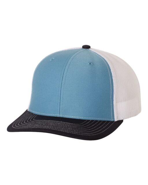 57890c4ce9726  0.99 RICHARDSON 112 CAROLINA BLUE NAVY WHITE SNAP BACK MESH TRUCKER HAT CAP