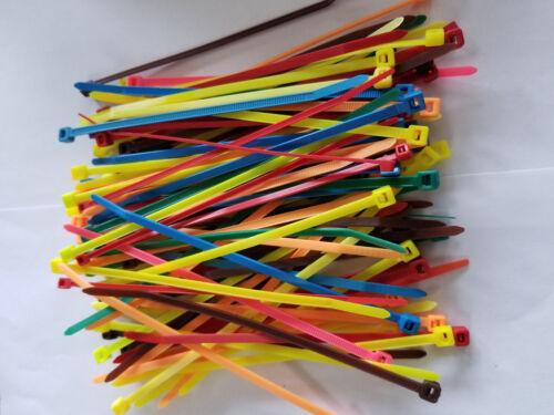 "Cable Tie Nylon Plastic 100 PCS R//C Hobby RC TRC2236 Multi Color 6/"" Zip"