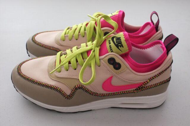 Nike Air Max 1 Ultra 2.0 SI Mushroom Tan Running Shoes 881103 200 Womens Sz 5.5