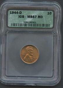 UNITED-STATES-1944-D-LINCOLN-CENT-GRADED-ICG-MS67RD