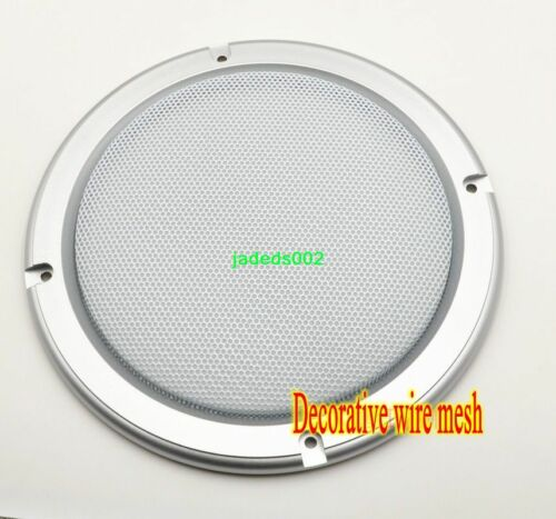 1pcs 6.5-inch Speaker grille decorative circle Ceiling Speaker Gold//Silver//white