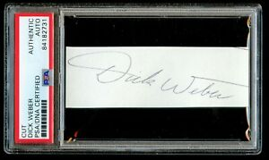 Dick-Weber-d-2005-signed-autograph-1x4-cut-PBA-039-s-First-Superstar-PSA-Slabbed