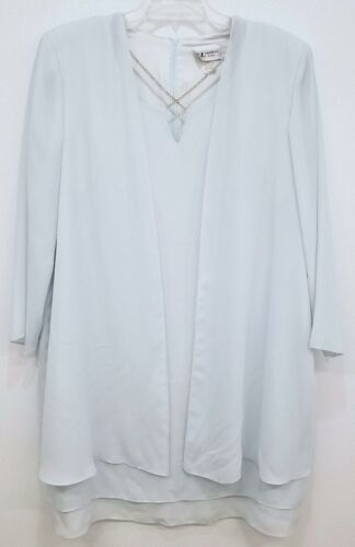 S.L. Fashions Light Baby Blue Evening Blouse Shirt