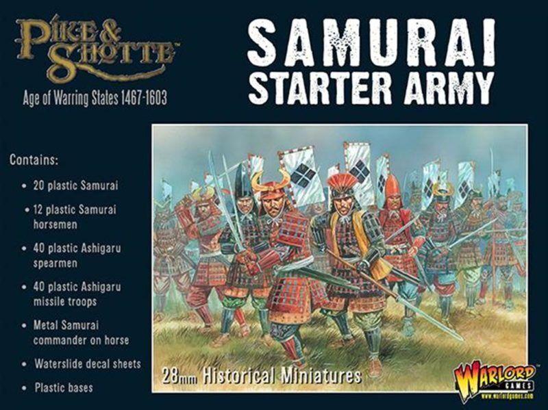 Feudal Japan SAMURAI Starter Army Warlord Games Pike & Shotte 28mm