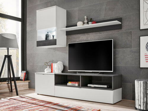 Wohnwand Andalus TV-Lowboard Wandregal Mediawand Wohnzimmer Kollektion Modern