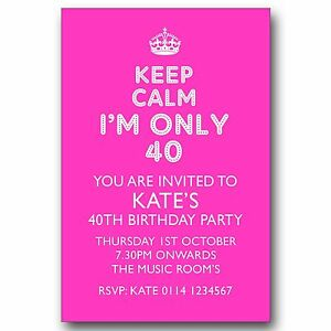 10 personalised birthday party invitations keep calm 30th 40th 50th image is loading 10 personalised birthday party invitations keep calm 30th filmwisefo