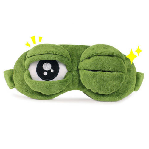 Pepe The Frog Sad Frog 3D MASQUE DE NUIT SOMMEIL CACHE YEUX Grenouille Gift Neuf
