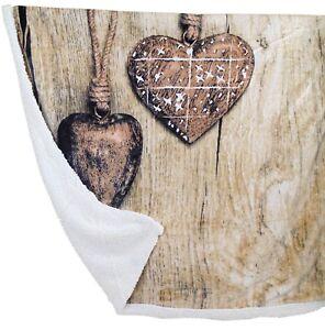 Home & Garden Coperta In Pile Plaid Con Sotto Caldo Agnellato Invernale Romantic Fiocco Shabby
