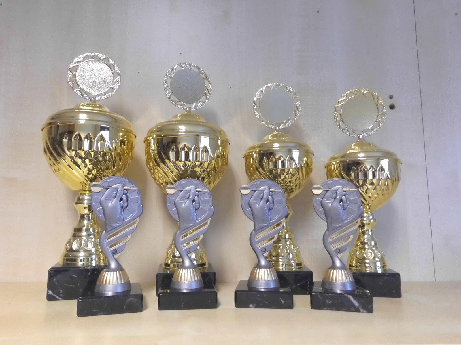 Dart Darts Pokale 10er 10er Pokale Serie (15-33cm) Trophäe Kids Turnier m. Gravur Pokal S456 f954ca