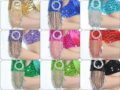 Belly Dance Costume Handmade Armbands Beads Sequins Accessory x1pcs