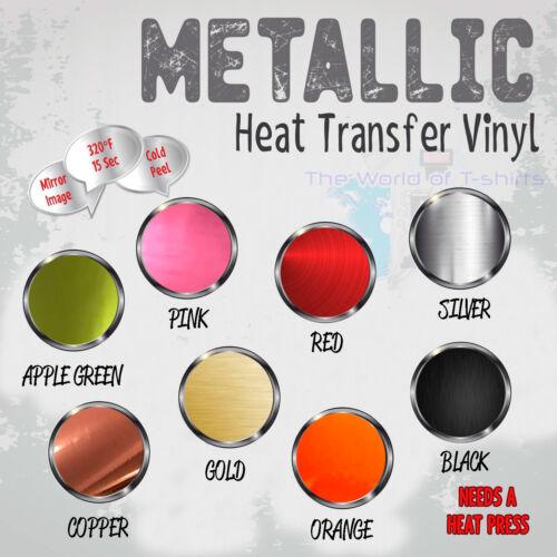 "Metallic HTV Heat Transfer Vinyl for T-Shirts 20/"" Roll s"