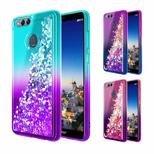 new arrival 8bdda 5d014 Details about Huawei Mate SE / Honor 7X Case | Glitter Liquid Bling Cover +  Screen Protector