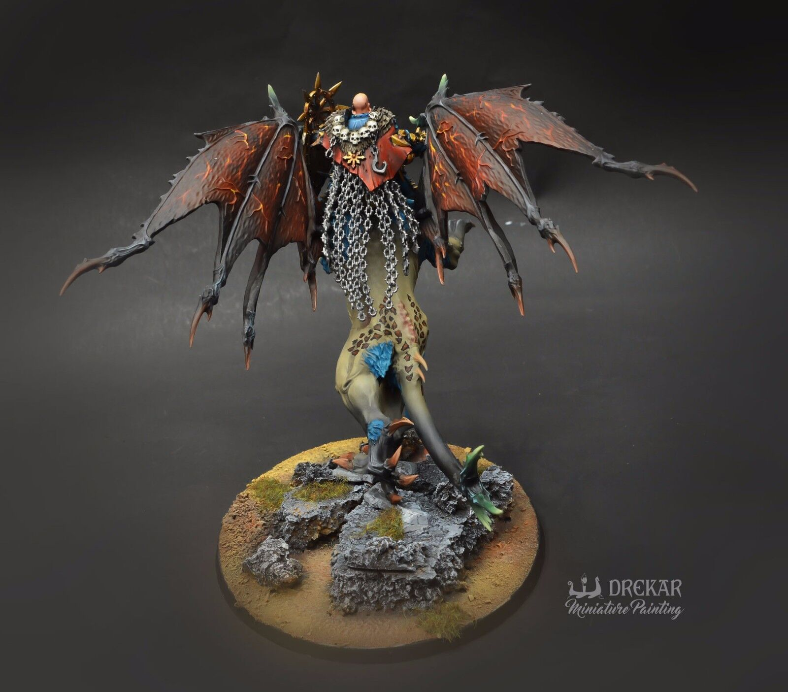 Chaos Lord on uomoticore warhammer Age of Sigmar COMMISSIONE pittura