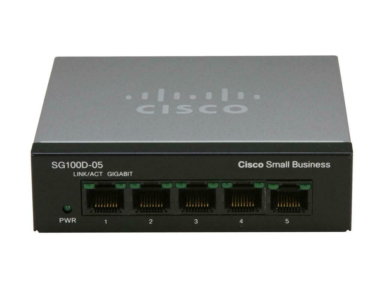 CISCO SYSTEMS 5-Port Ethernet Switch SG110D05NA