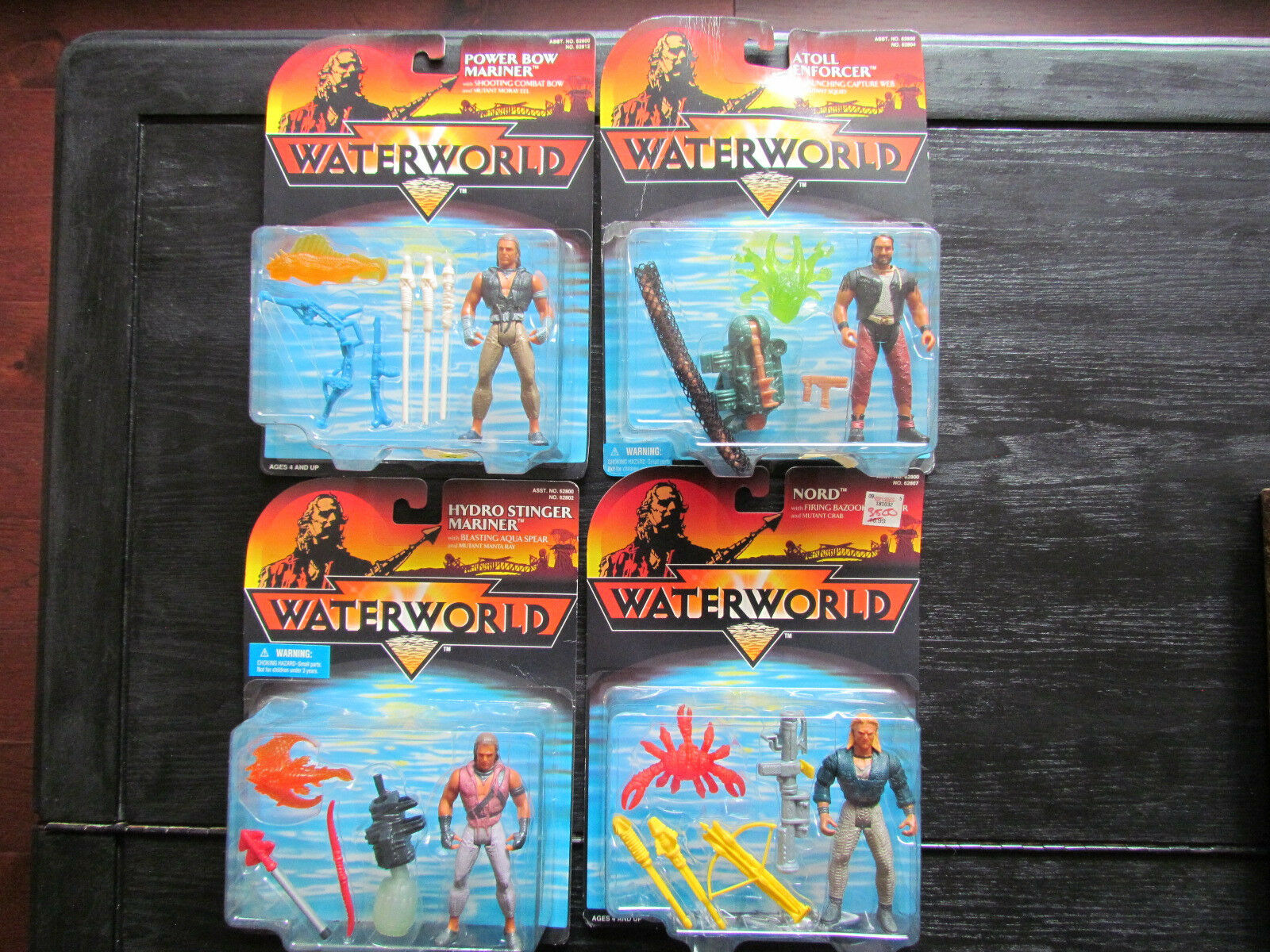 NEW MOC Waterworld Action Figures – Nord – Atoll Enforcer – Power Bow and Hydro