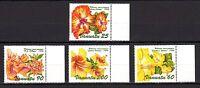 Vanuatu 1996 Flowers Hibiscus Flora MNH Mi.1024-27